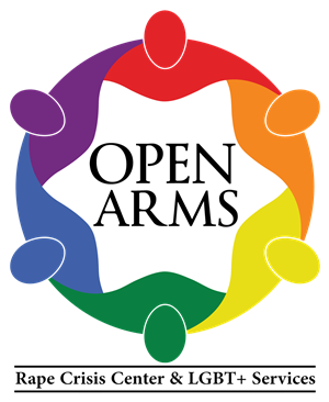 Logo of Open Arms Rape Crisis Center and LGBT+ Services