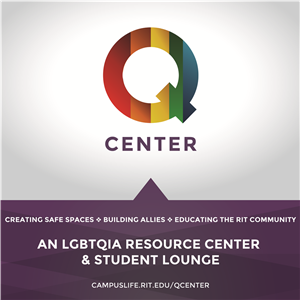 Logo of The Q Center at RIT